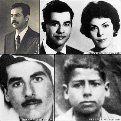 Saddam Hussein y esposa