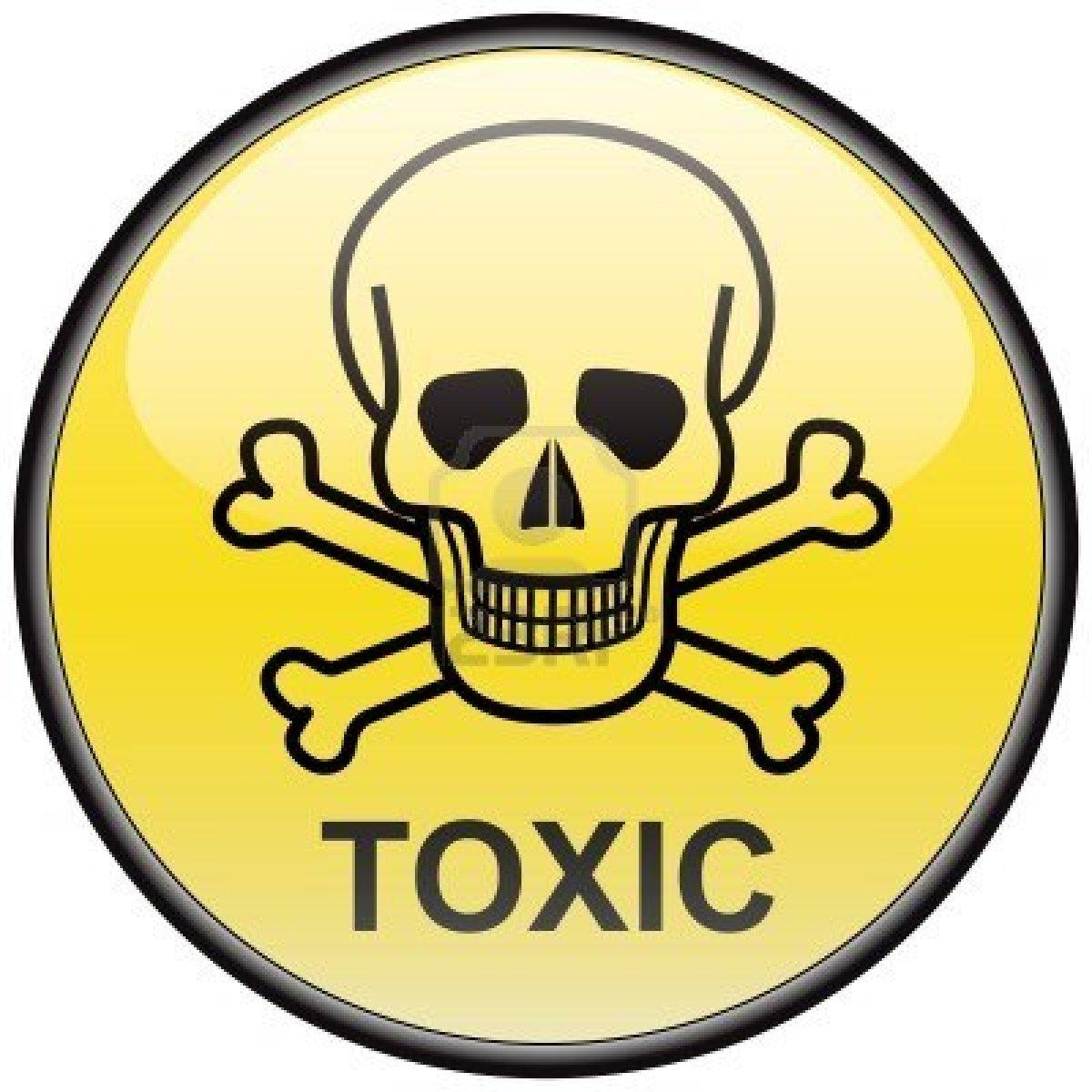 toxic sign and skulls - photo #2