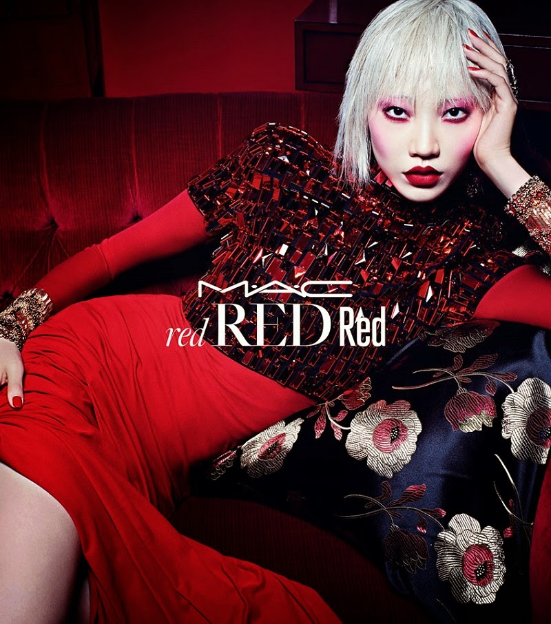 Asian Models Blog Ad Campaign Soo Joo Park For M A C Cosmetics Holiday 2014