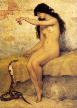 Mujer y cobra