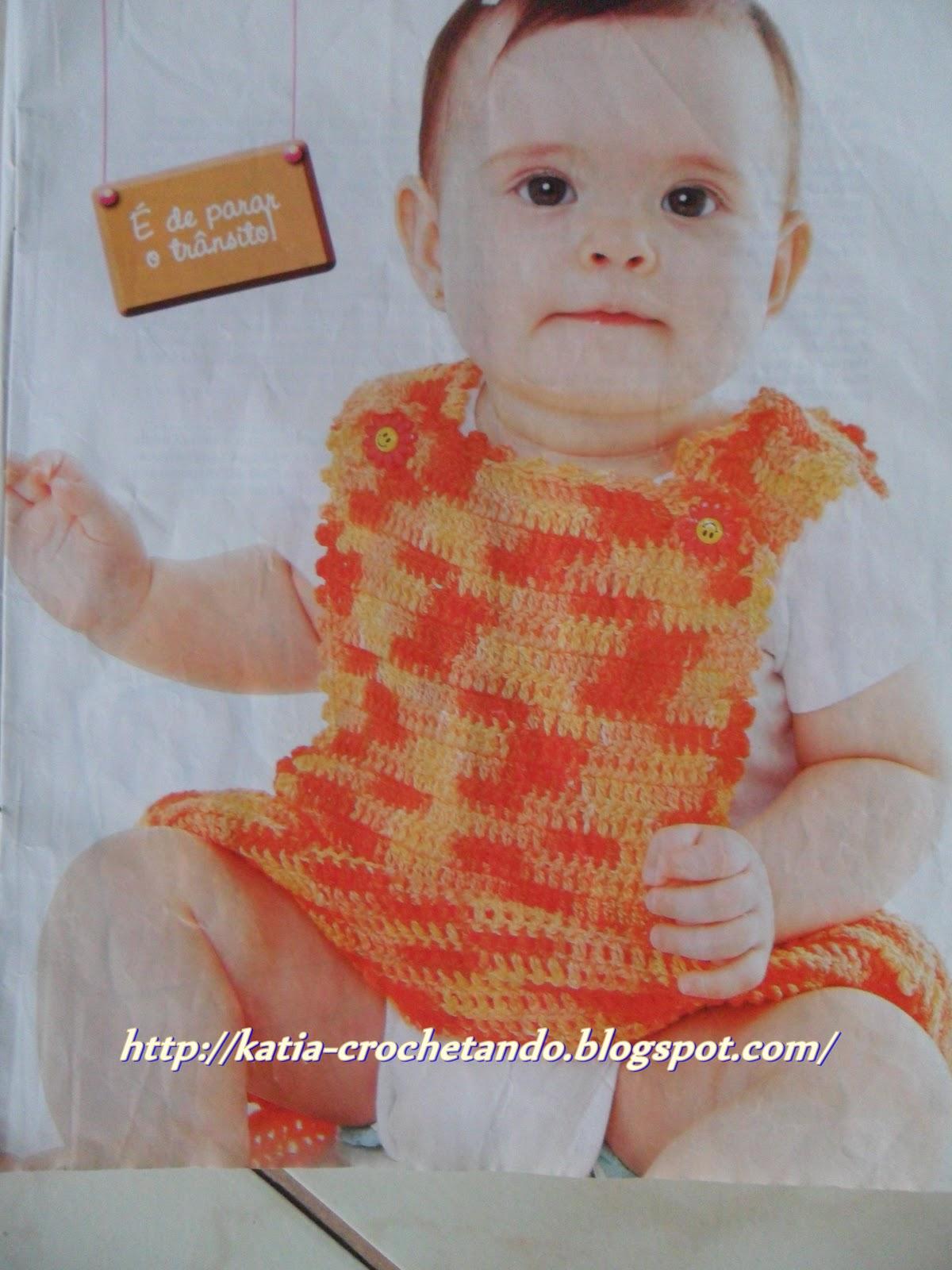 Crochetando c a katia jardineira c cavas americanas for Jardineira infantil c a