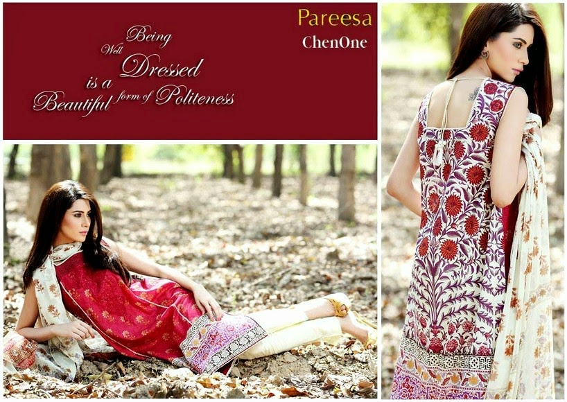 Sleeveless Lawn Dresses by Pareesa