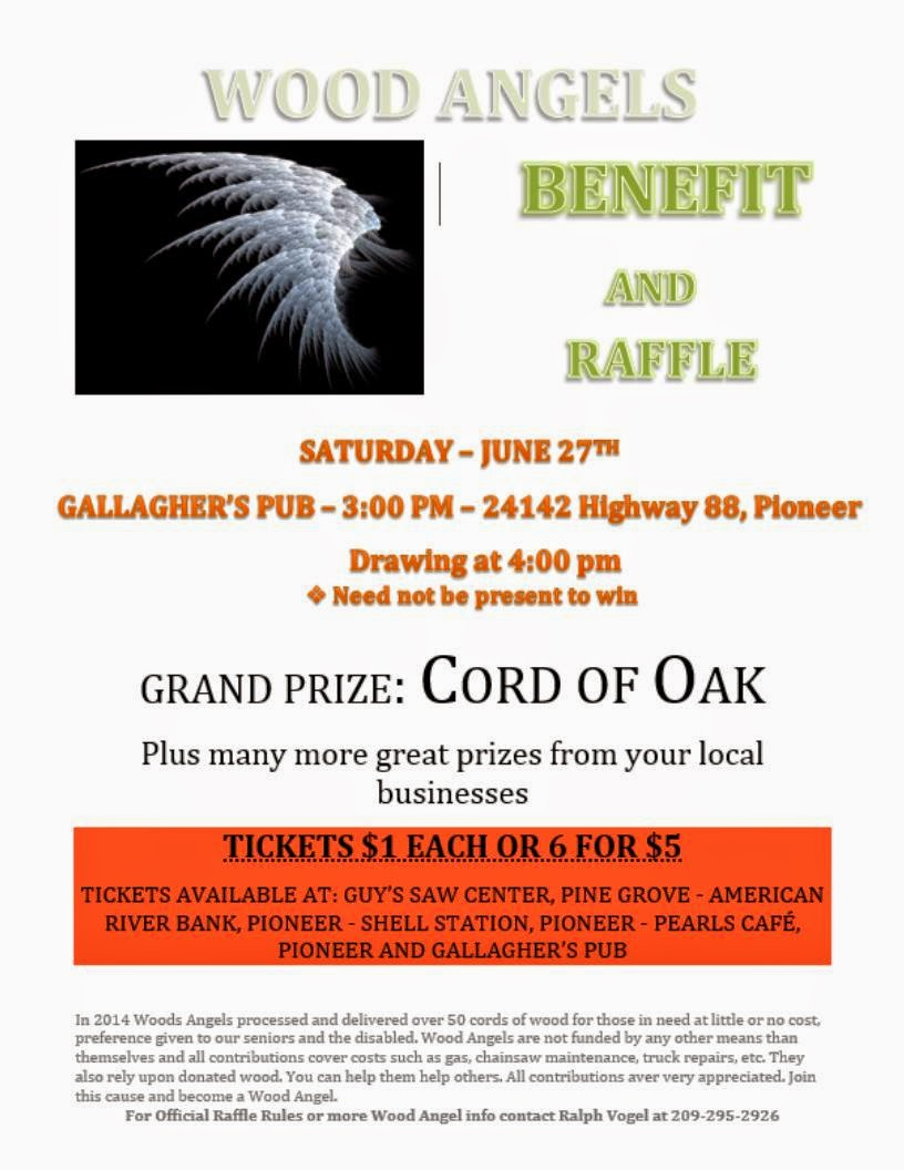 Wood Angels Benefit & Raffle - Sat June 27