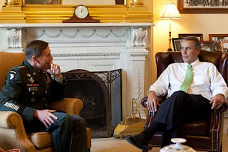 Speaker Boehner meets with Gen. David Petraeus