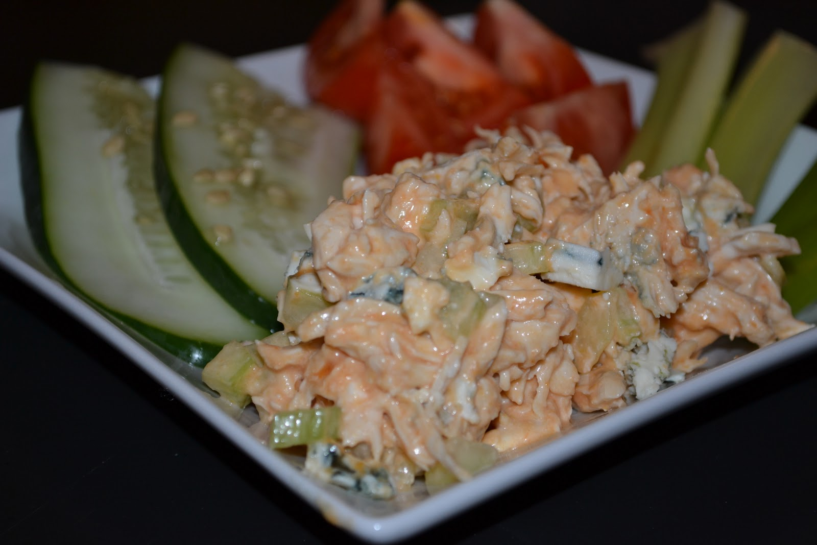 love this chicken salad served with fresh veggies on the side or