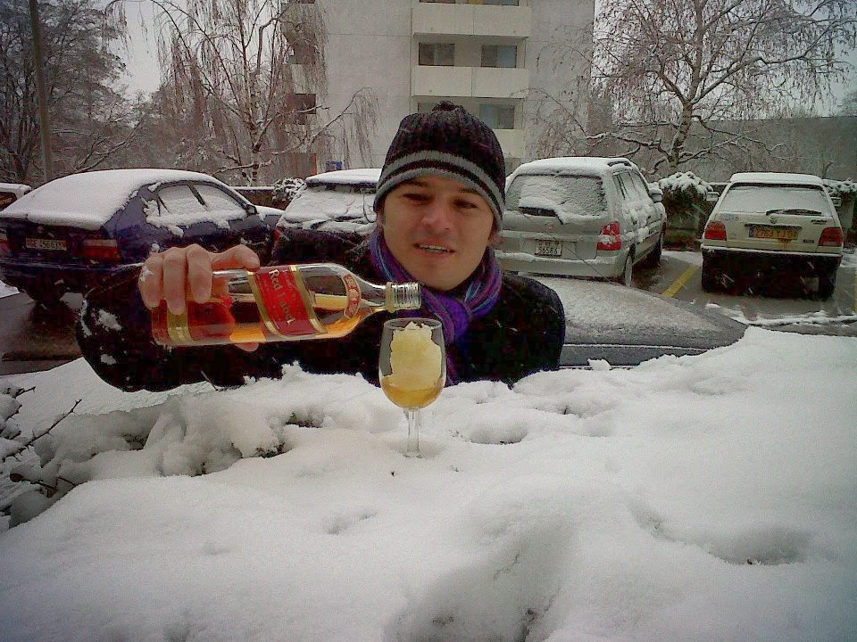 Aquavit on the snow