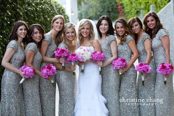 Dark Purple And Silver Bridesmaid Dresses