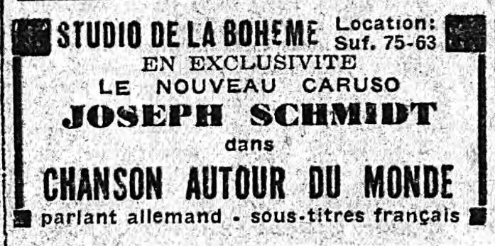 Musique De Film 1928/1945: Ein Lied Geht Um Die Welt (1933