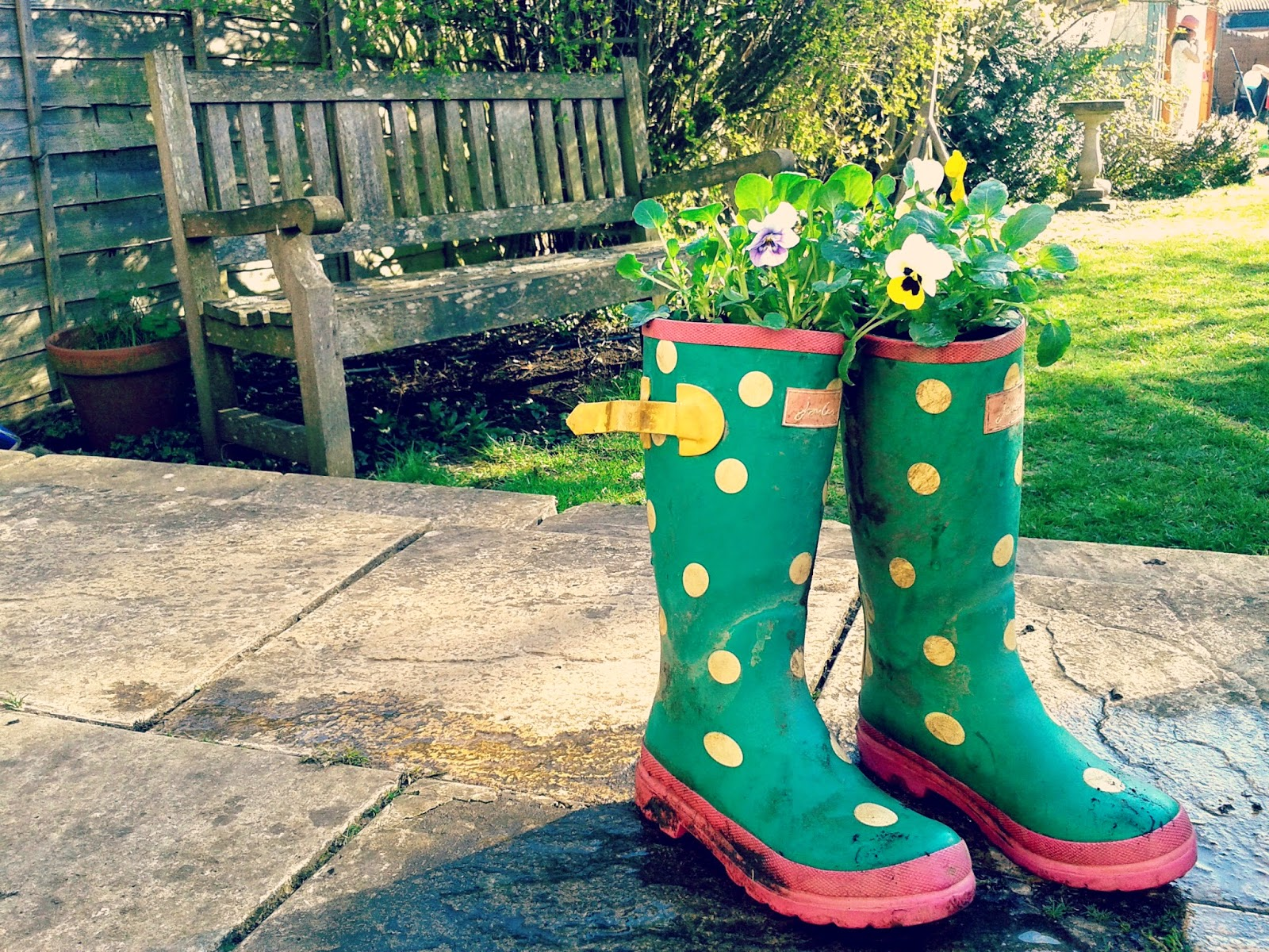 Project 365 day 96 - Upcycled wellies // 76sunflowers