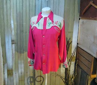 Vintage 30s Cowboy shirt