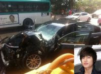 Lee Min-ho Car Accident Picture