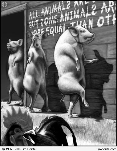main thesis of animal farm Need help on themes in george orwell's animal farm animal farm themes from litcharts one of the main tenets of animalism is that all animals are equal.