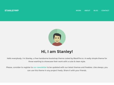 Stanley WP Twitter Bootstrap WordPress Theme