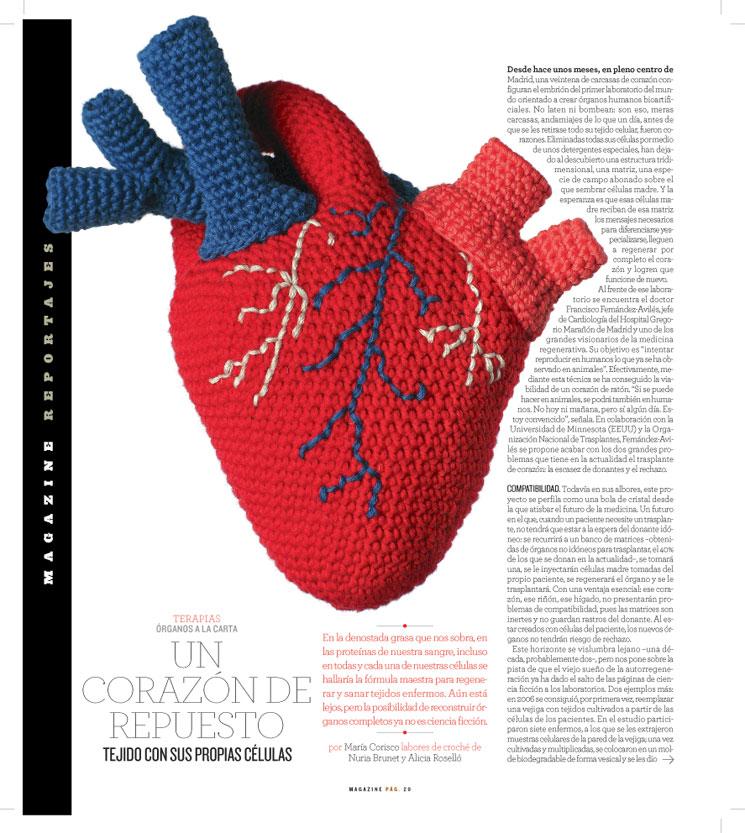 El blog de Dmc: Un corazón de amigurumi con Natura