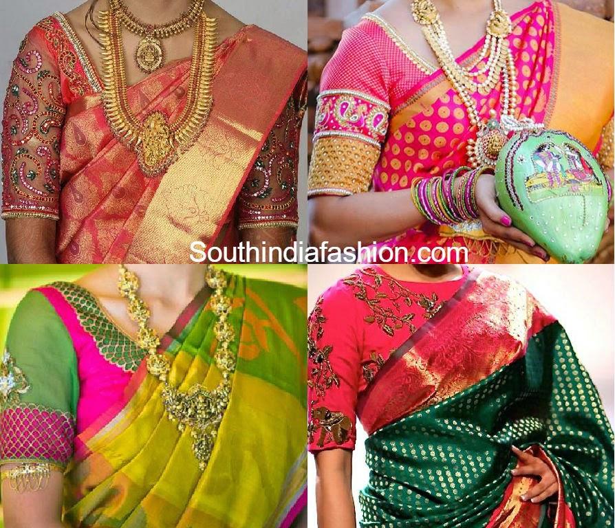 blouse designs for pattu sarees �south india fashion