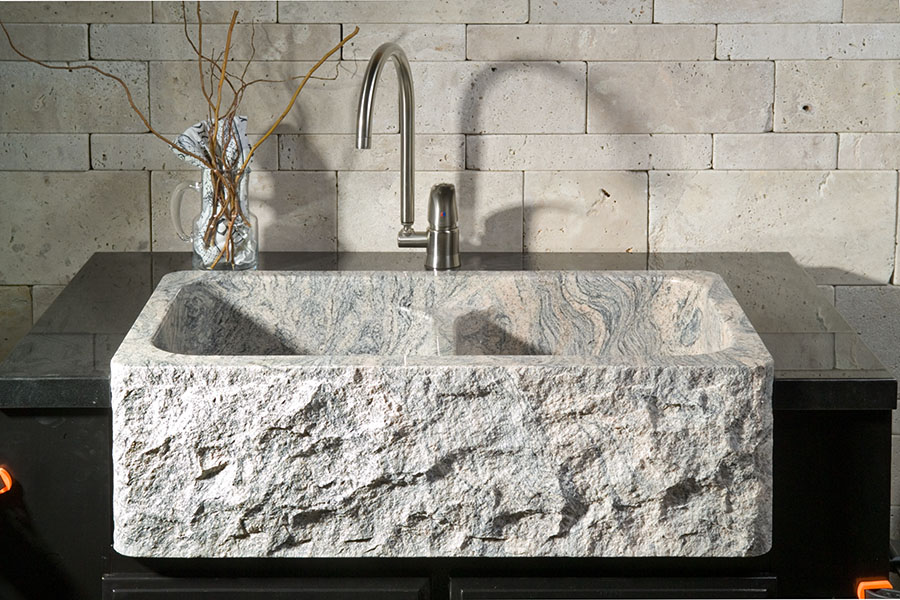 Granite Sinks Australia : ... cut from hardwoods. Vessel sinks are honed from solid blocks of stone