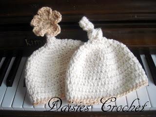 Riley Crochet Baby Hat Pattern : Daisies Crochet: