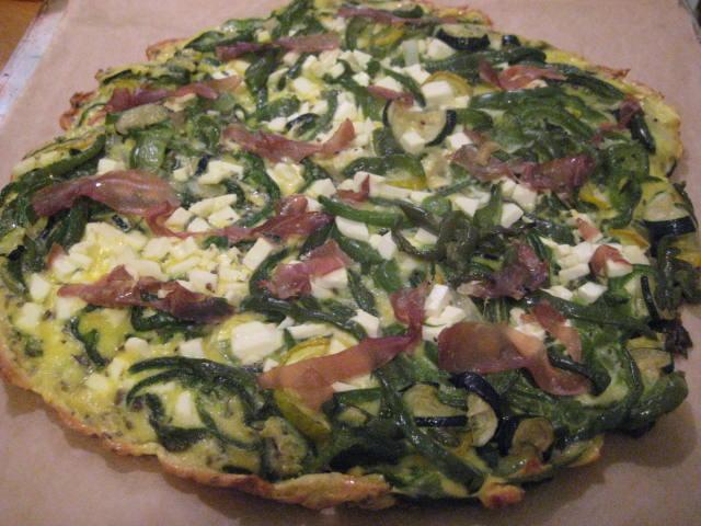 Peppers, Prosciutto and Ricotta Salata Frittatta