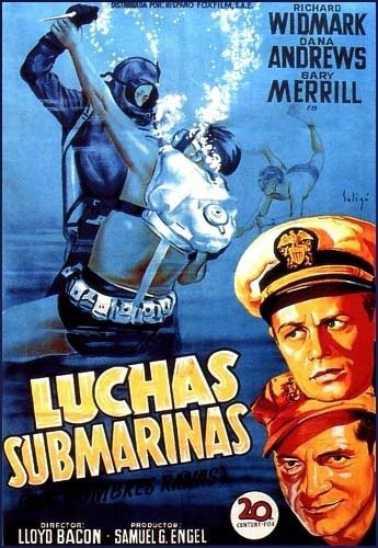 Luchas submarinas | 1951 | The Frogmen | Caratula | Dvd Cover
