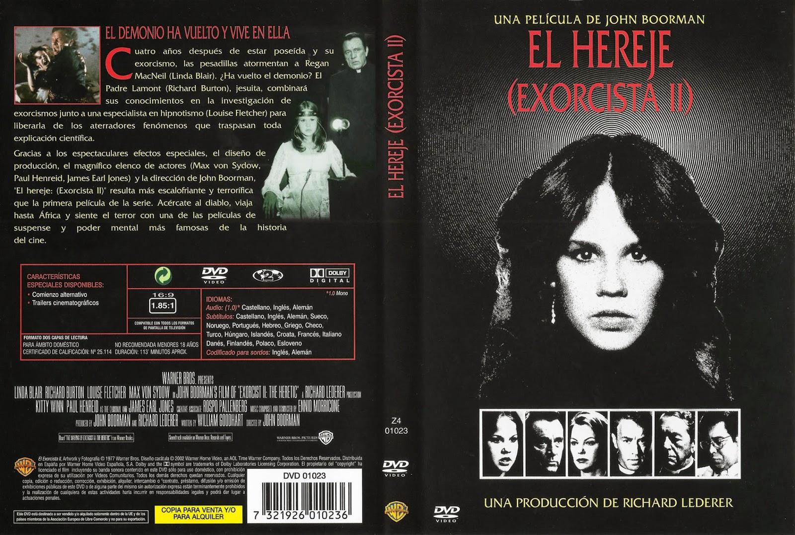 El Exorcista 2 El Hereje DVD