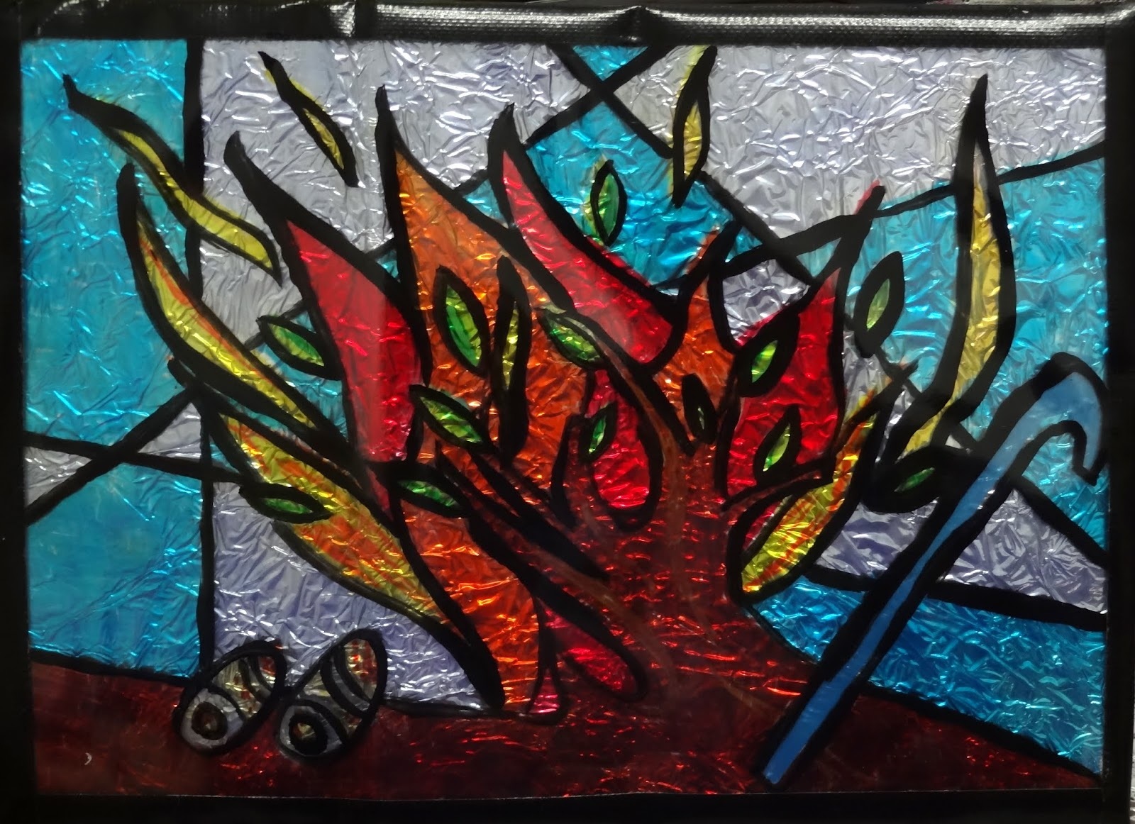 Cooking outside the box stained glass craft tutorial for Glass boxes for crafts