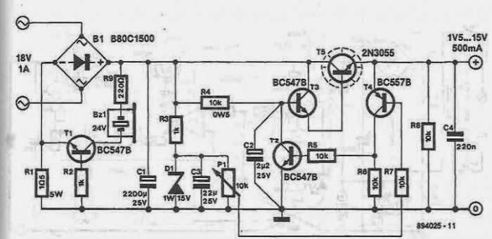 Power Supply Circuit Diagram