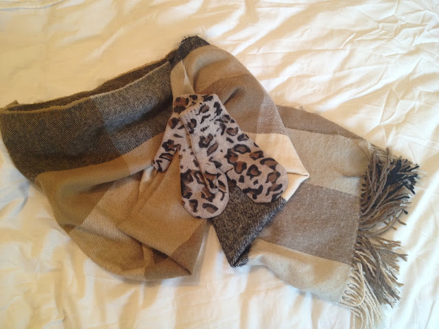 Wrap Up Warm For Ice Skating | Scarf, Leopard Print Mittens H&M | London