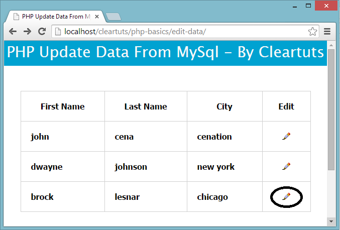 PHP update Data of MySQL