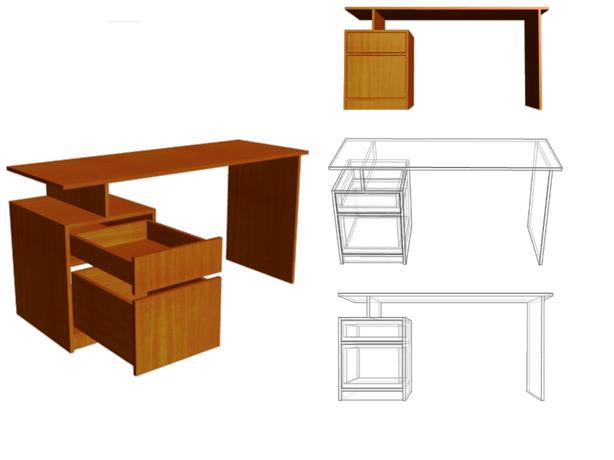 Tama os est ndar de los muebles muebles funcionales for Medidas estandar de escritorios de oficina