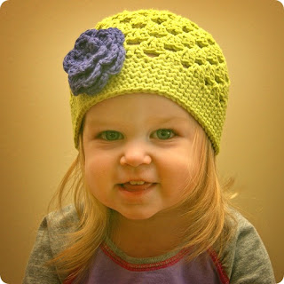 crocheted flower hat for kids