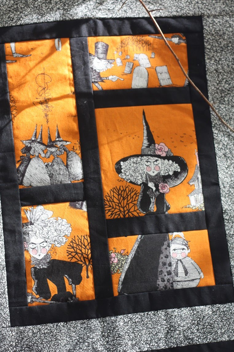 Patchwork block of the month patterns for halloween