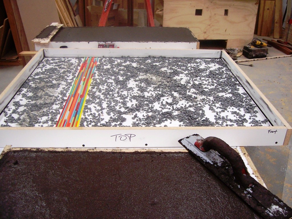 Creating Concrete Countertops February 2011