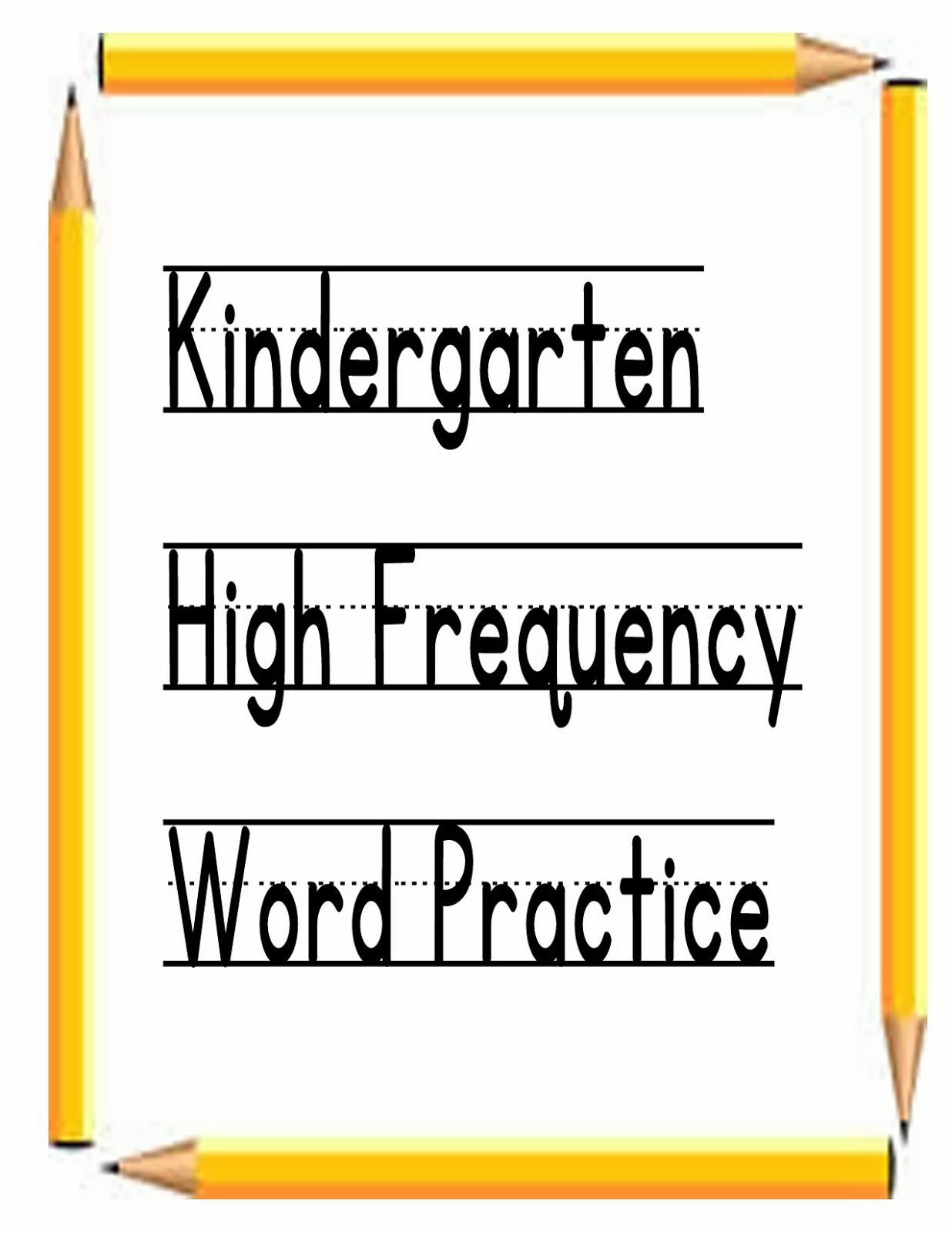 ... not as easy as it sounds!: Journeys Kindergarten High Frequency Words