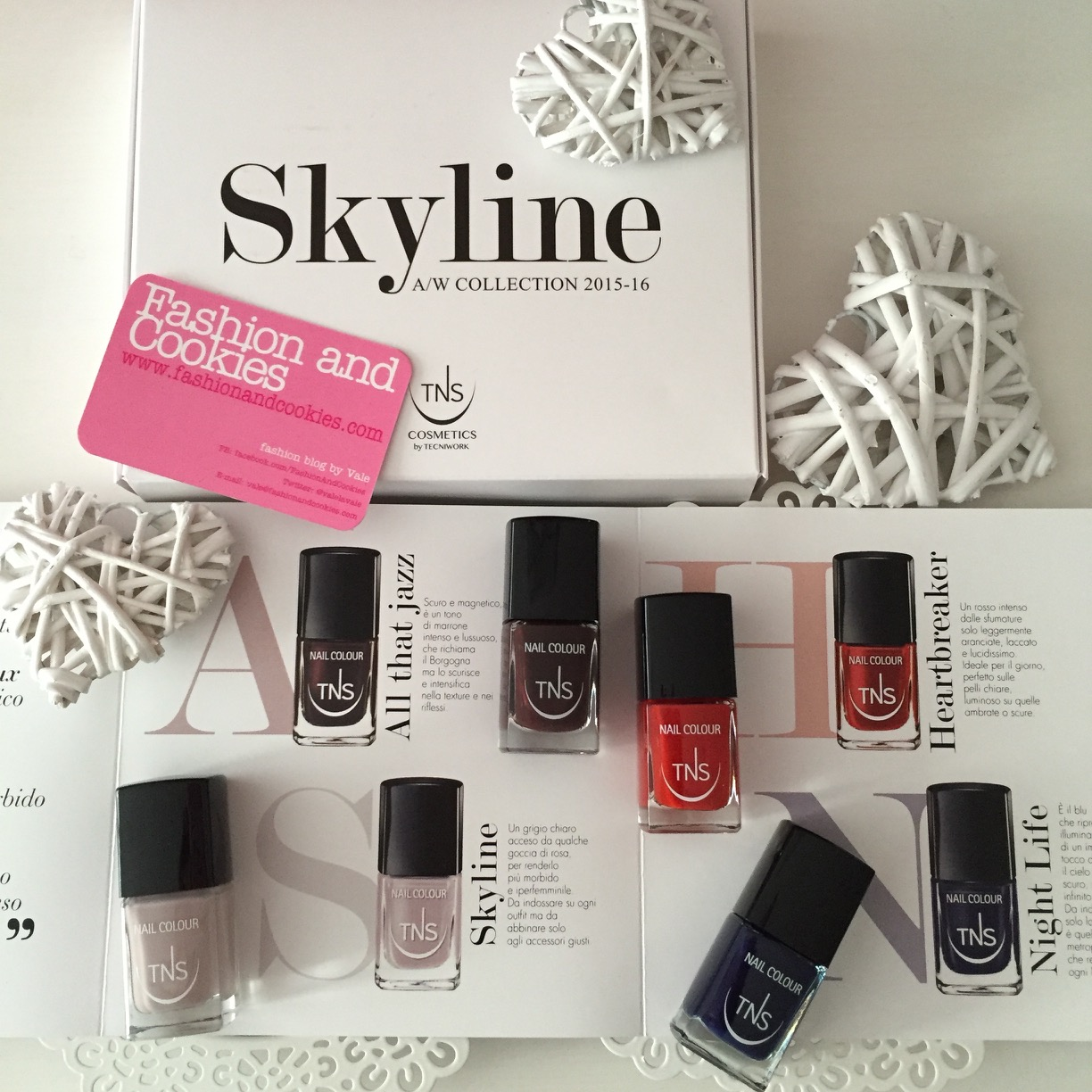 Skyline Collection, four nail polish shade by TNS Cosmetics from Tecniwork on Fashion and Cookies beauty blog, beauty blogger