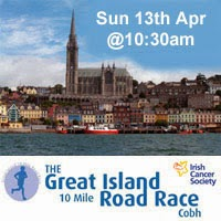 10 mile race in Cobh with all proceeds going to the Irish Cancer Society