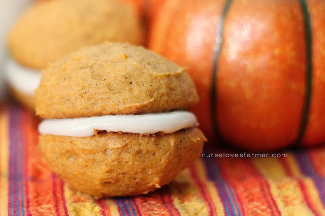 Pumpkin Whoopie Pies by Nurse Loves Farmer