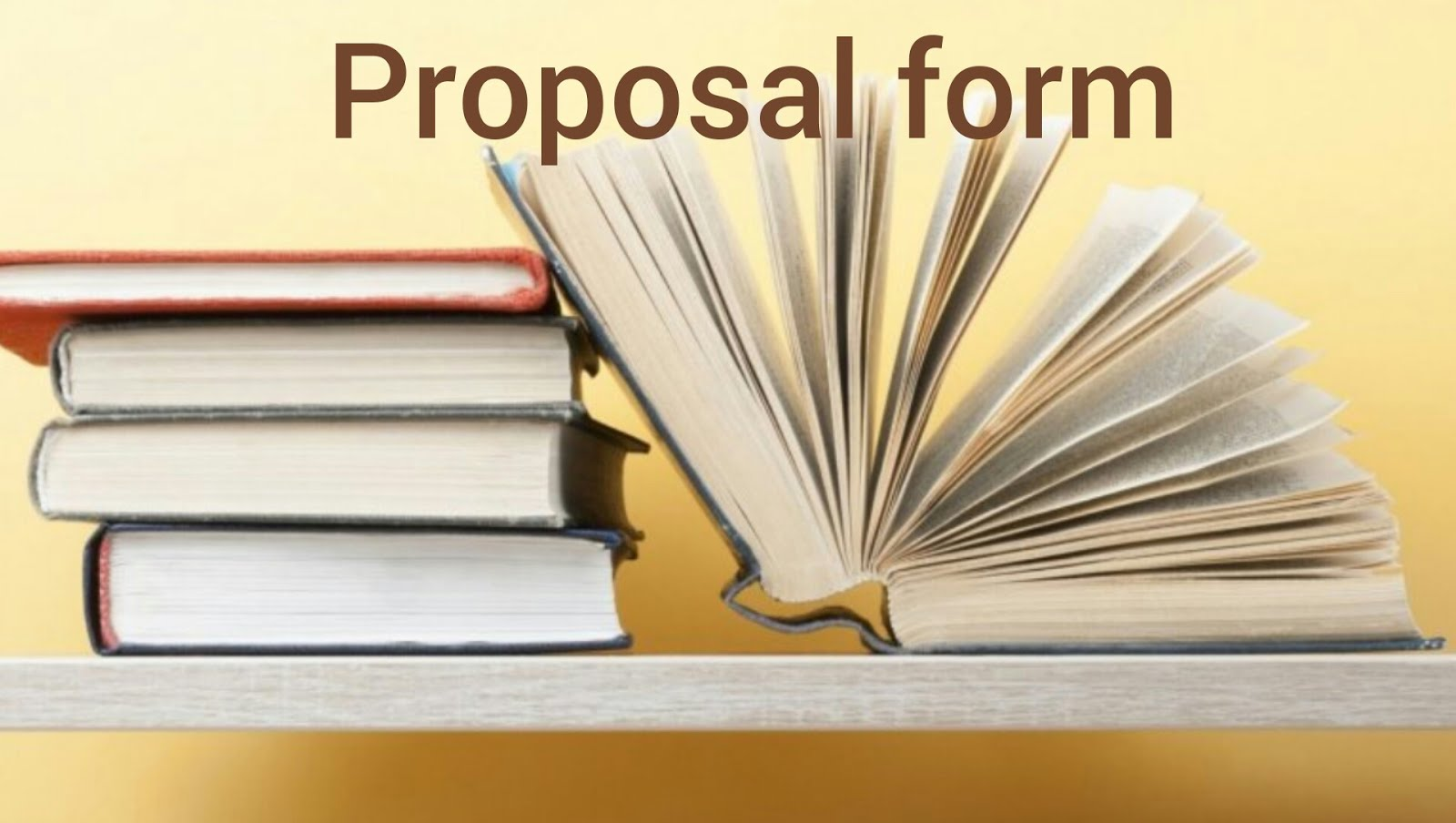 Proposal Form Session 2, 2018-2019
