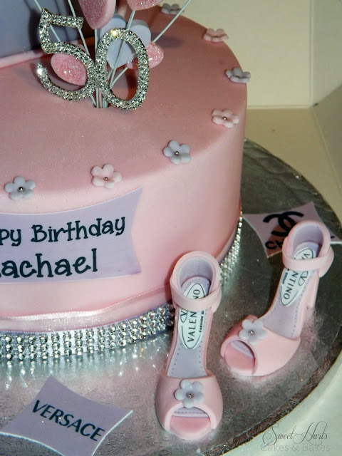 FONDANT HANDBAG SHOES 50TH BIRTHDAY CAKE