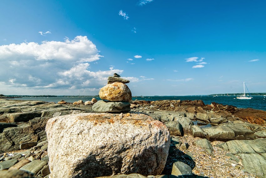 East End Beach Summer July 2014 Portland, Maine USA Casco Bay Rocks photo by Corey Templeton