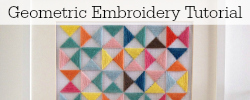 Geometric Embroidery Tutorial