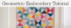Geometric Embroidery Tutorial