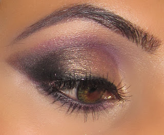 purple gold smokey, mac, makeup, blog, mac melon pigment, smoulder, blog, look carbon 5