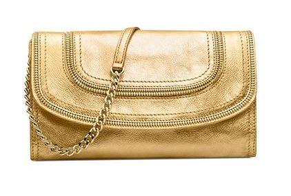 MK Clutch Gold