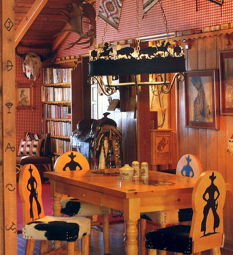 A drifting cowboy cowboy chic sporting collectibles for Cowboy living room ideas