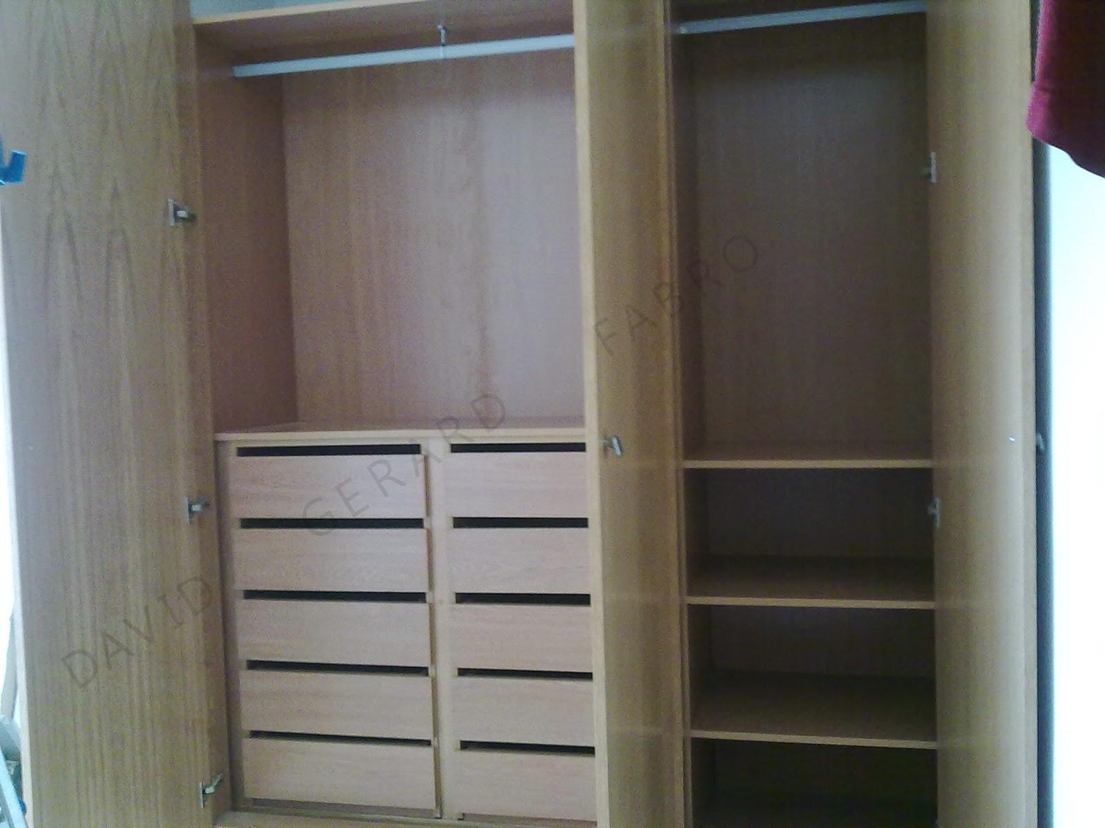 Todo en carpinter a bricolaje y decoraci n octubre 2014 for Distribucion de armarios empotrados por dentro