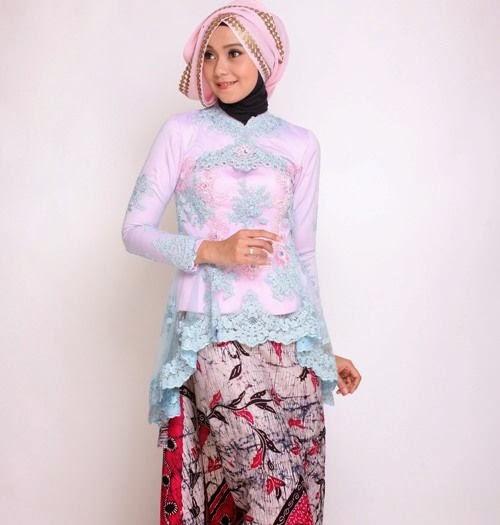 24 Contoh Model Baju Muslim Brokat Terbaru Dan Terbaik