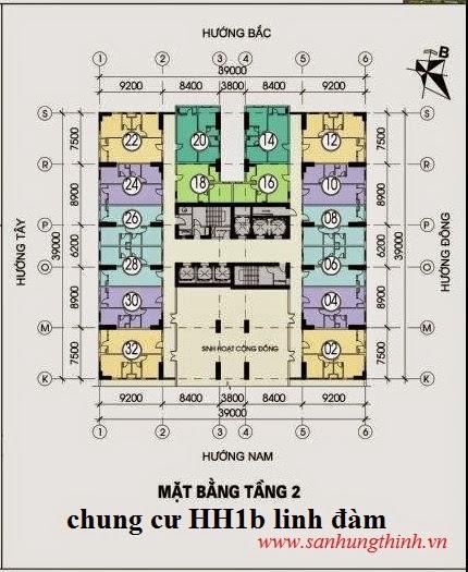 thiết kế căn hộ tầng 2 chung cư hh1b linh đàm