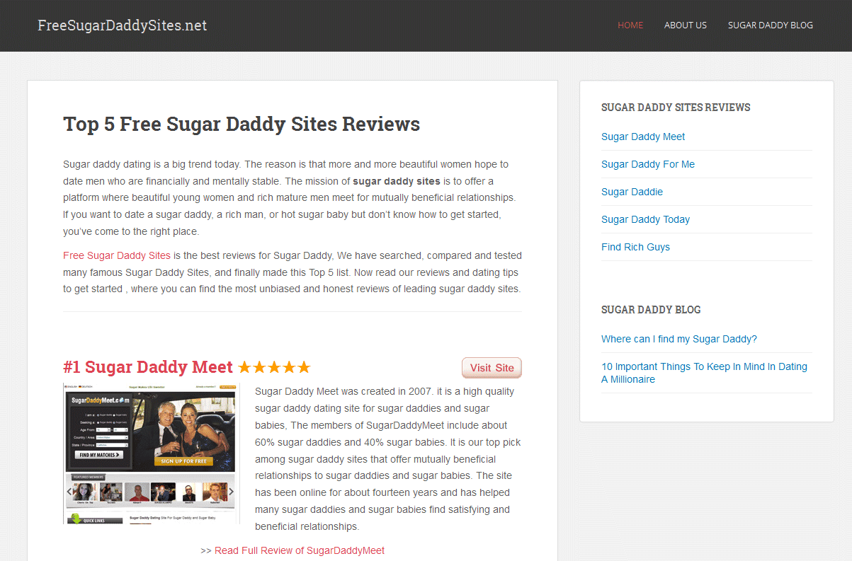 Free online dating sites for sugar daddies
