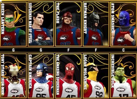 NBA 2K13 Marvel versus DC Mod