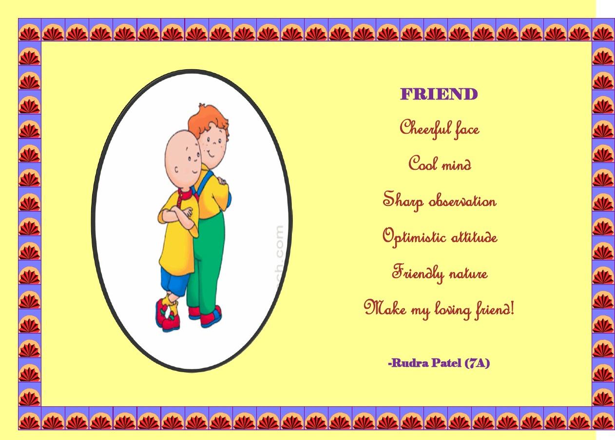 Friend  Rudra Patel 7A